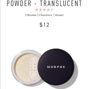Morphe translucent powder